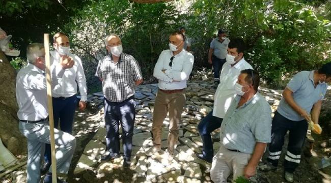Başkan Selvitopu Kavacık'taki çalışmaları denetledi