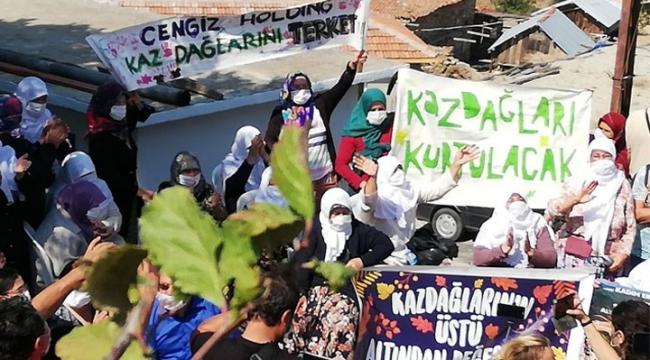 Çanakkale halkı Kaz Dağları katliamına izin vermedi!