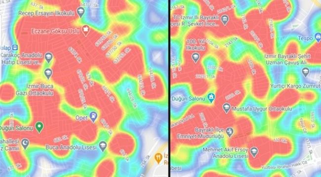 İzmir'in korona haritası ağır bilançoyu gözler önüne serdi!