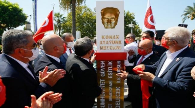 Konak'ta Atatürk anıtı açıldı!