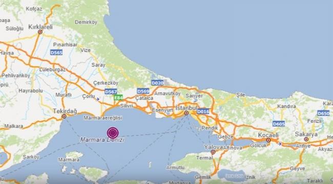 Marmara'da 4.2 büyüklüğünde deprem
