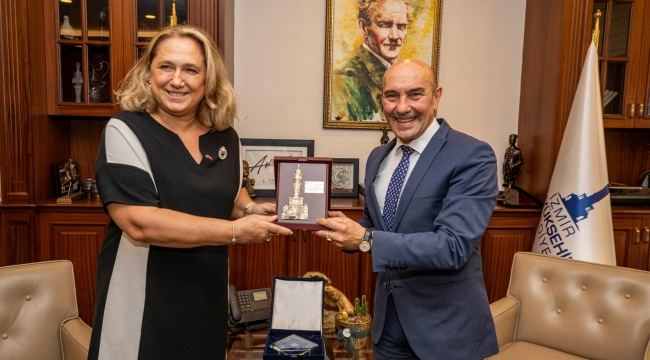Başkan Soyer'e Kosova İstanbul Başkonsolosu'ndan nezaket ziyareti