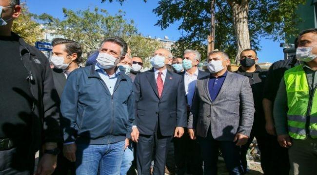 CHP lideri Kılıçdaroğlu deprem bölgesinde