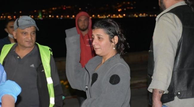 İzmir'de denize düşen alkollü kadın boğulma tehlikesi geçirdi