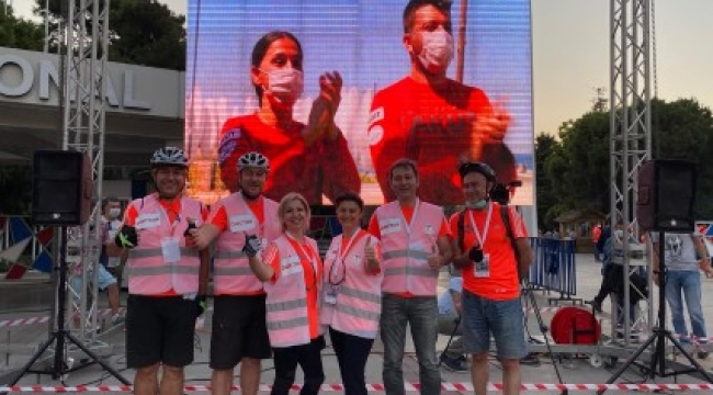 Maratona Gönüllü Bisikletli Doktorlar Damga Vurdu