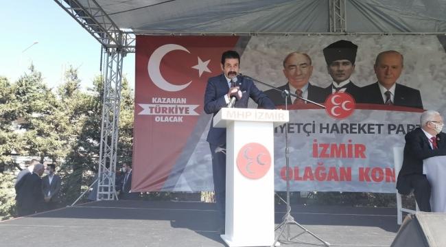 MHP'li Kalyoncu'dan Kongre'de sert çıkış: PKK'yı kınamıyorlar!