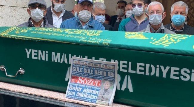 Usta gazeteci Bekir Coşkun'u sevenleri son yolculuğuna uğurladı