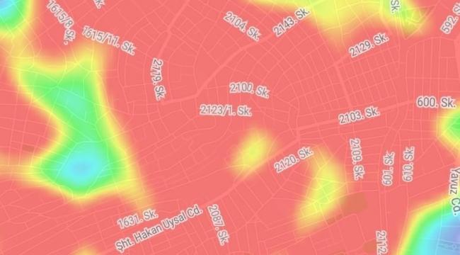 Bayraklı'nın koronavirüs haritası korkuttu!