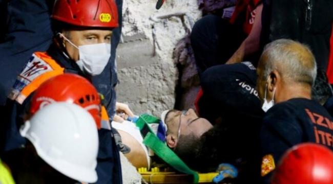 İzmir depreminde enkazdan çıkarılan amatör futbolcudan kahreden haber