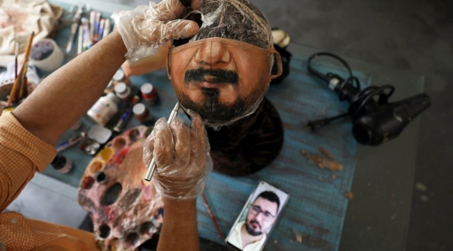 Maskelere sanatçı eli değdi!