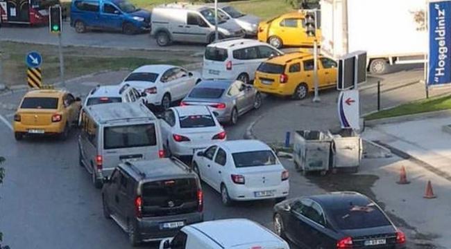 İzmir trafiğinde Erdoğan yoğunluğu