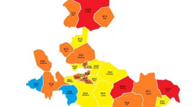 İzmir'in koronavirüs haritası: Hangi ilçeler daha riskli?