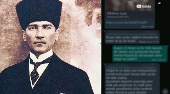 Konya'da okul grubunda Atatürk'e hakaret!