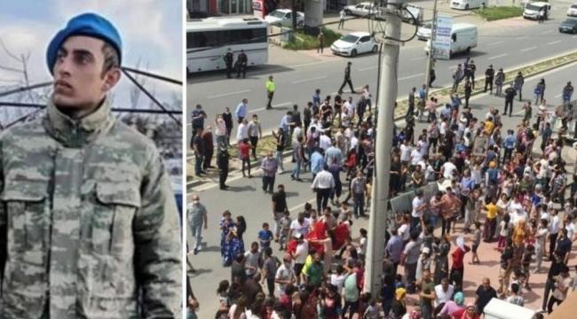 İntihar ettiği iddia edilen asker için Romanlardan 'mobbing' isyanı ve eylem!
