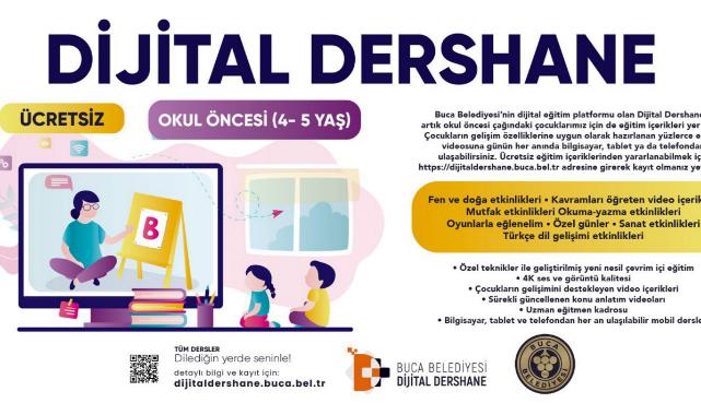 Dijital Dershane'de okul öncesi eğitim başladı